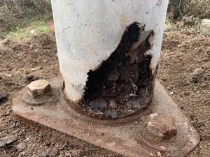 Steel Pole Damage